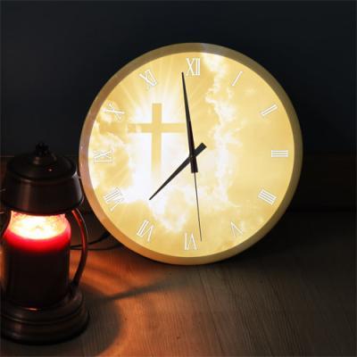 ng270-LED시계액자35R_황금보다귀한십자가
