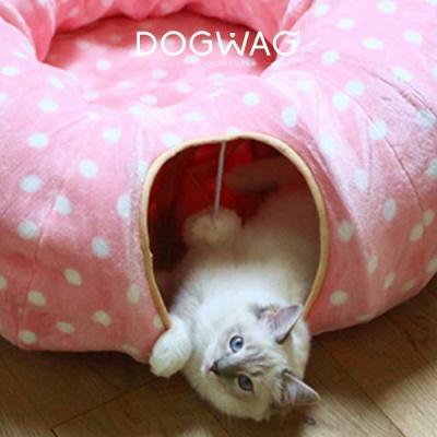 [도그웨그 DOGWAG] 고양이 도트터널 고양이 동굴터널