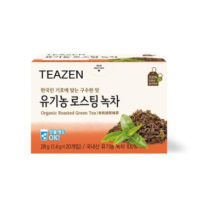 티젠 유기농 로스팅 녹차 20티백