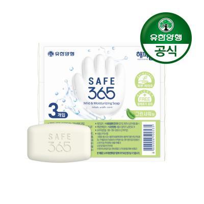 [유한양행]해피홈 SAFE365 비누 그린샤워향 (85g 3입)