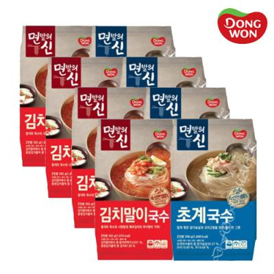 [동원] 면발의신 초계국수 4봉+ 김치말이국수 4봉