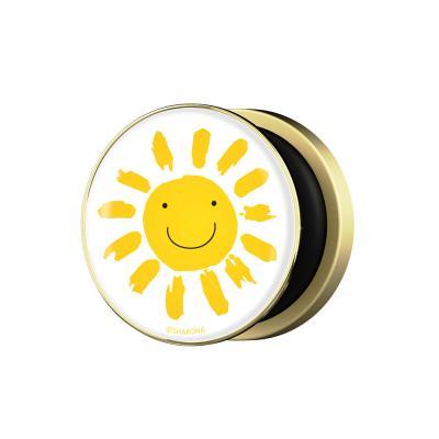 샤론6 골드 원형 그립톡 태양