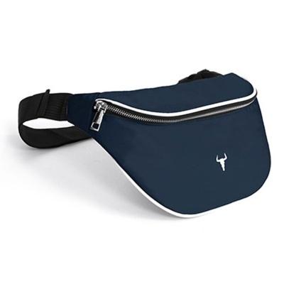 네이비 BM 캐주얼 힙색 허리 등산 운동 가방 보조