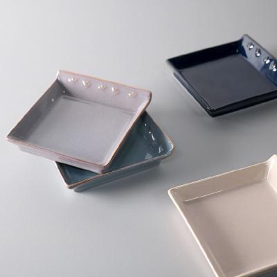 바체 정사각 접시 소 4color