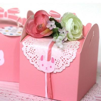 선물용돌떡리본상자-핑크
