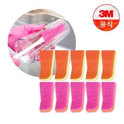 [3M]보틀 수세미용 리필_플라스틱용(1입) 5개+스테인레스용(1입) 5개