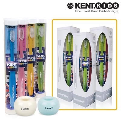 켄트키즈 3세트(칫솔12개 + 스탠드3개(색상랜덤))