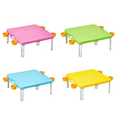 컬러 피크닉 휴대용 접이식 캠핑 테이블