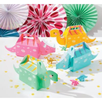 핑크 공룡 선물상자 4개 답례 포장상자 Treat Boxes