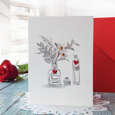 하트 꽃 카드 FT1037-3