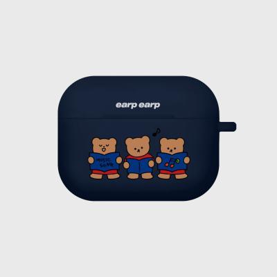 Music song bear-navy(Air pods pro case)