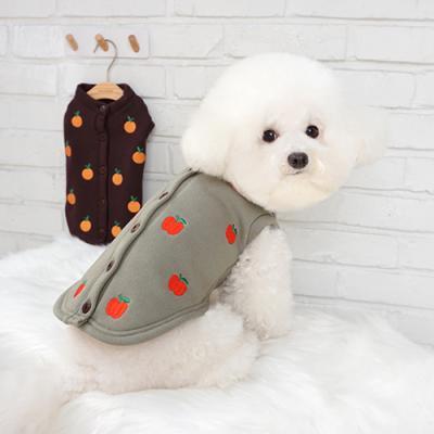 강아지아우터 고양이실내옷 애견겨울옷 과수원 가디건