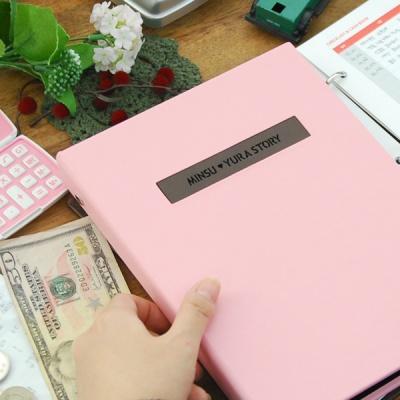 제이로그 캐쉬북 머니플래너 바인더-인디핑크
