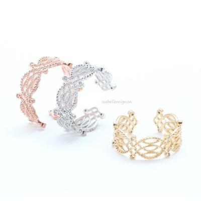 [이자벨미뇽] 레이스 프리사이즈 반지 RA10033