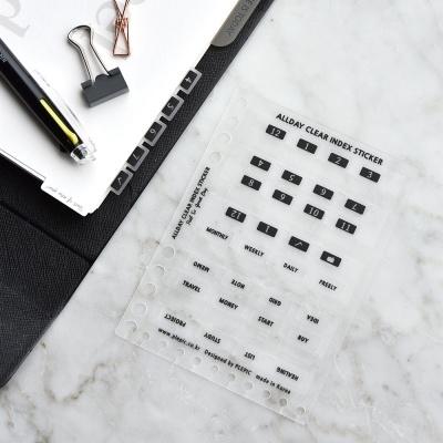 Allday Clear Index Sticker (반투명 인덱스 스티커)