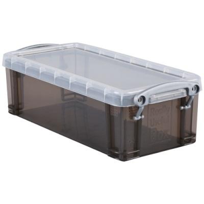[Really Useful] 클리어박스0.9리터 (Litre) 투명블랙 [개/1] 302733
