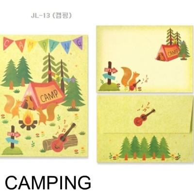 디원 미니 편지지 JL13 캠핑 1개