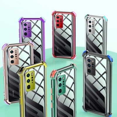 아이폰xr xs max se2 8 7 컬러 사각 범퍼 투명 케이스