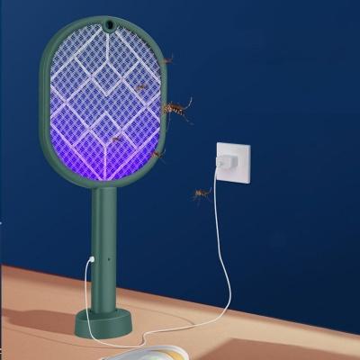 여름 LED USB 충전식 전기모기채 해충퇴치기