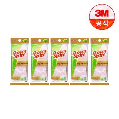 [3M]제로스크래치 슬림 스폰지 수세미 2입(흠집방지용) 5개세트