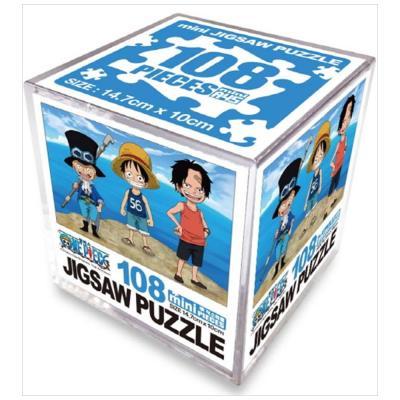 원피스 직소퍼즐 미니 Cube 108pcs: 브라더후드 각오