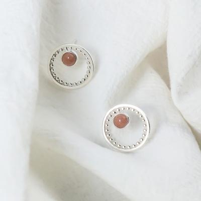 i_e61 - rose quartz signature earring