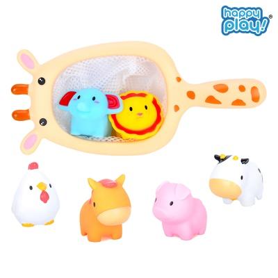 동물친구 아기목욕놀이 유아 물놀이 뜰채 장난감 기린