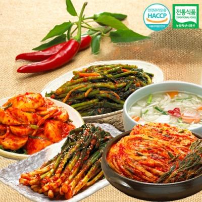 포기김치+나박물김치+석박지+갓김치+파김치x각1kg