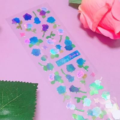 영롱한 Rosy Rose Blue 칼선 스티커