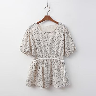 Linen Cotton Leaf Blouse