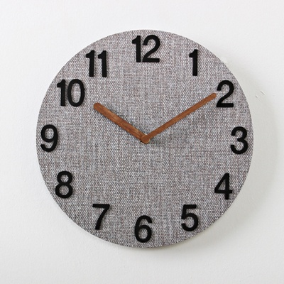 (kdrz056)그레이 우드 저소음벽시계 BN(25cm)
