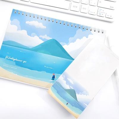 제주하얀모래해변 위클리플래너 떡메모지SET (A5만년)