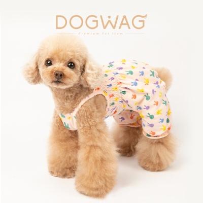 도그웨그 러블리 토끼 올인원 강아지 여름 옷 티셔츠