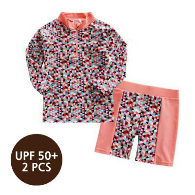 [스윔웨어] 트라이앵글래쉬가드_2PCS(UPF50+) 유아수영복 여아래쉬가드