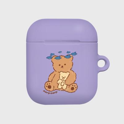 blue bird bear-purple(Hard air pods)