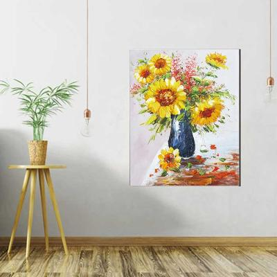 Home gallery CANVAS Oil Painting 블루화병 해바라기