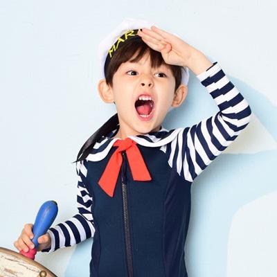 [헤즈] 아동 래쉬가드 상하세트_세일러보이(SAILOR BOY)