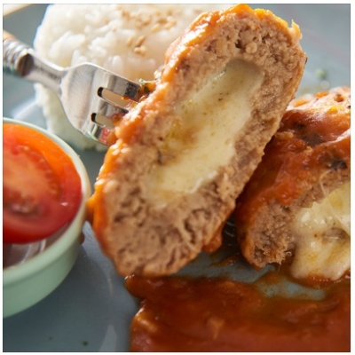 [푸드트리]토마토소스 치즈함박스테이크130g (저염식)