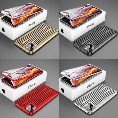 아이폰11 PROMAX 캐리어 메탈 자석 풀커버 하드케이스