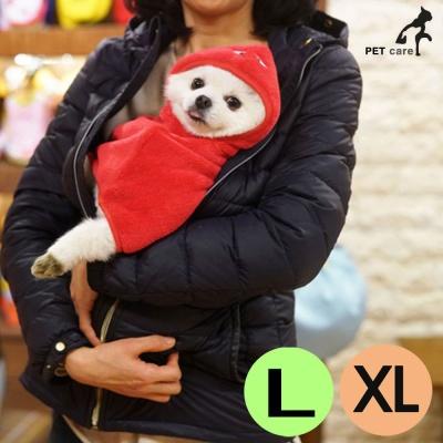 패리스독 캐릭터 웜 가운 담요 공룡 (레드) (L XL)