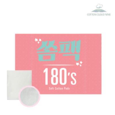 [코튼클라우드나인]쏨팩 화장솜 180매