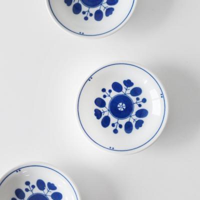 파랑꽃 접시 10cm
