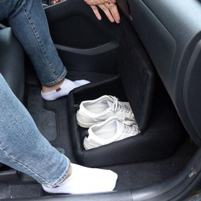 자동차용 신발보관함 발받침대 액세서리 수납함 보관
