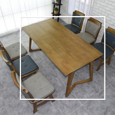 도밍 고무나무 원목 6인용 식탁 테이블