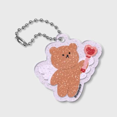 [7.8일 예약발송] Dot angel bear(글리터키링-퍼플)