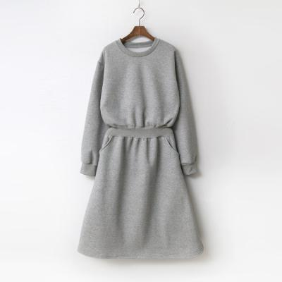 New Gimo Fit N Flare Dress - 기모안감