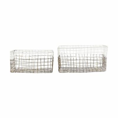 [House Doctor]Storage Mail set of 2 pcs white Large Ph0250 디자인바스켓