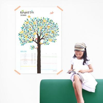 독서나무 스티커 세트