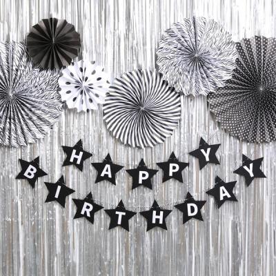 스타 생일파티 장식세트 (샤인 블랙)