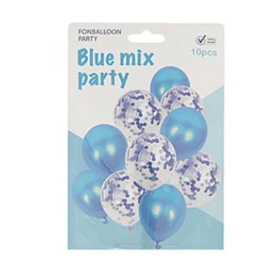 컨페티풍선10개입-블루 고무풍선 파티용품